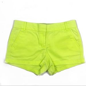 J. Crew broken in chino shorts lime green 6